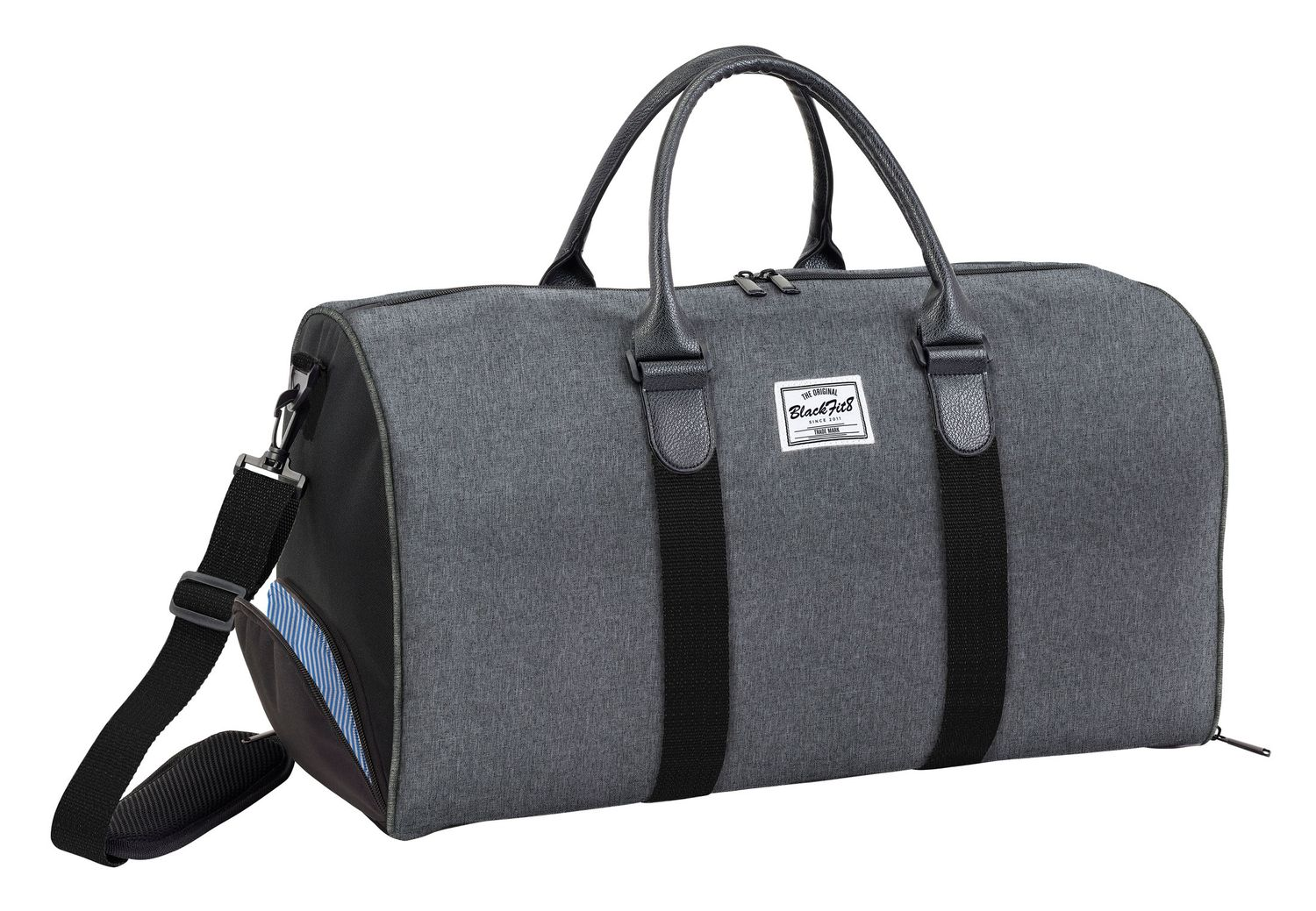 Blackfit Black & Grey Sport bag – image 1