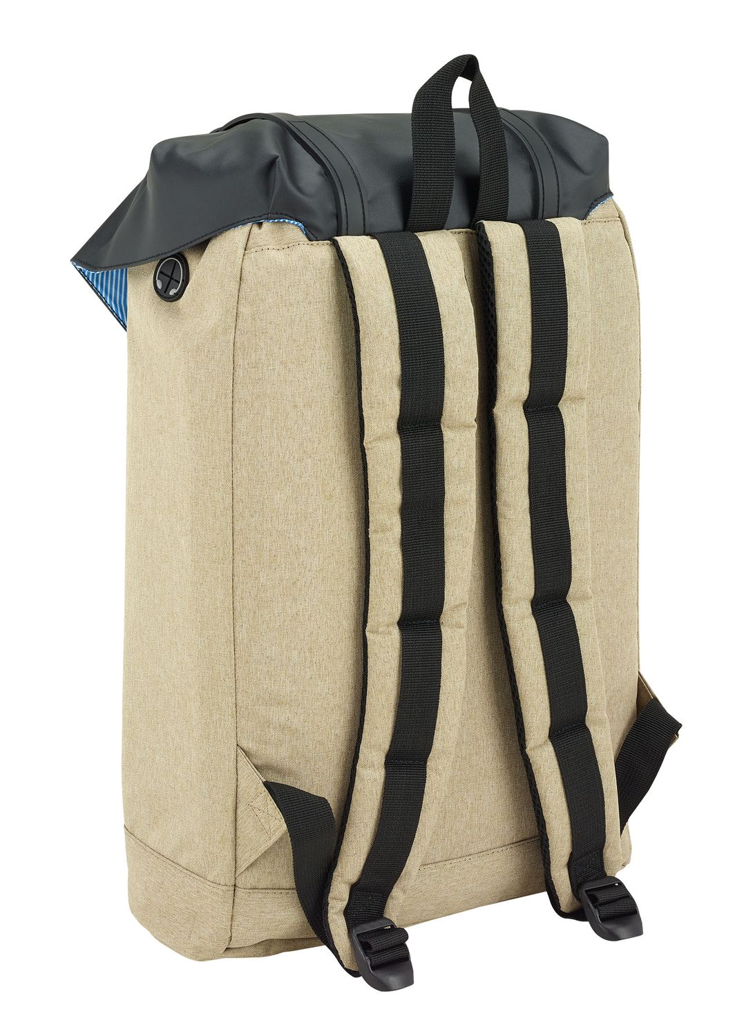"""Blackfit Black & Sand Laptop Backpack With Flap 15,6"""" – image 2"""
