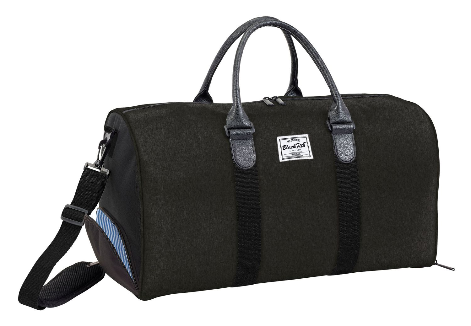 Blackfit8 Black & Black Sports Bag – image 1