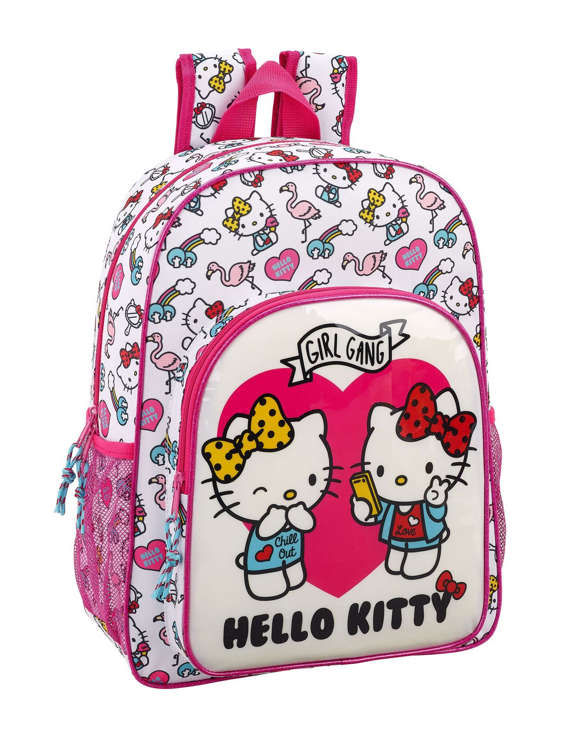 Hello Kitty Girl Gang Pink Backpack 42cm – image 1