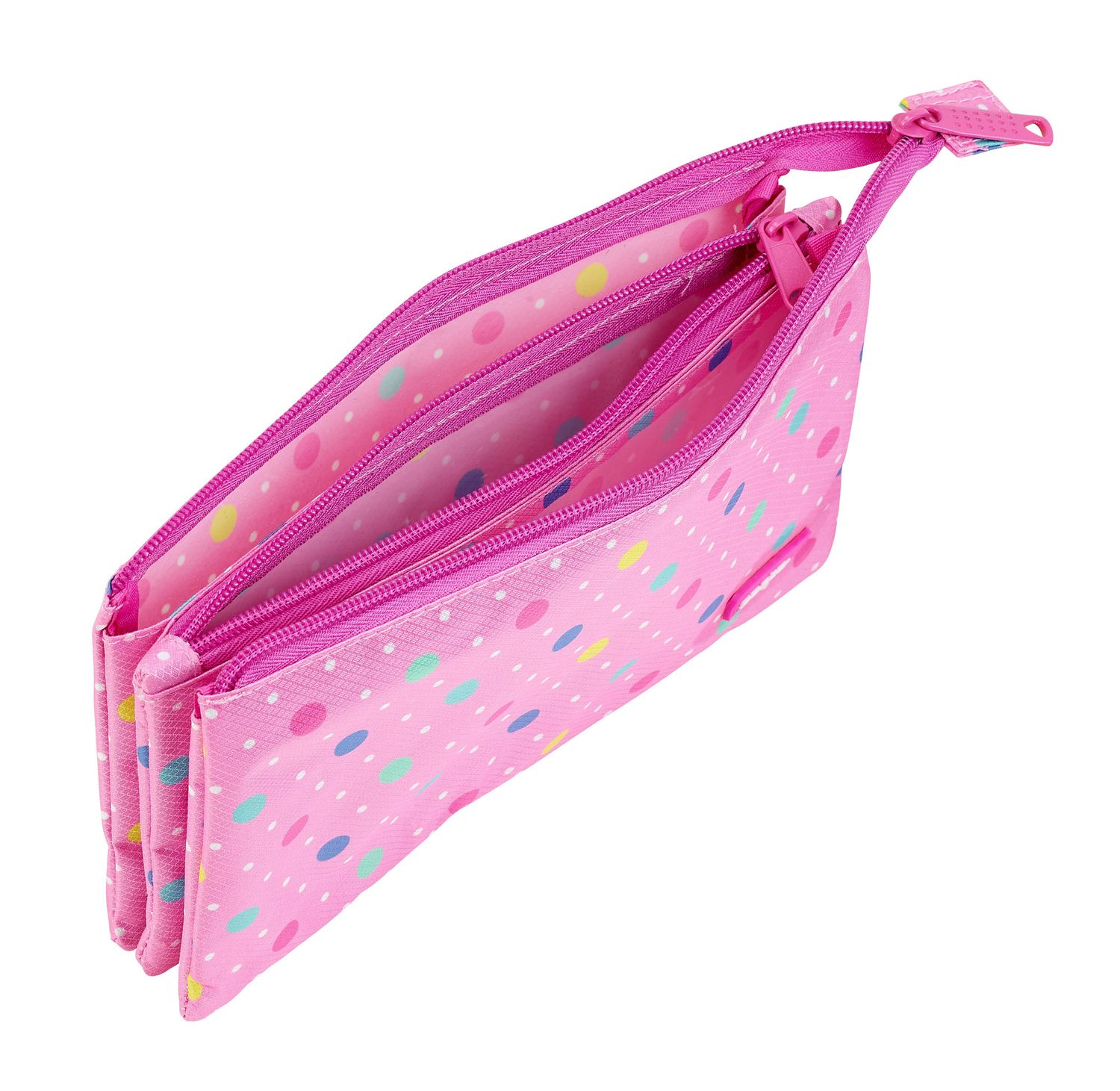 Triple Pencil Case Dots Pink – image 2