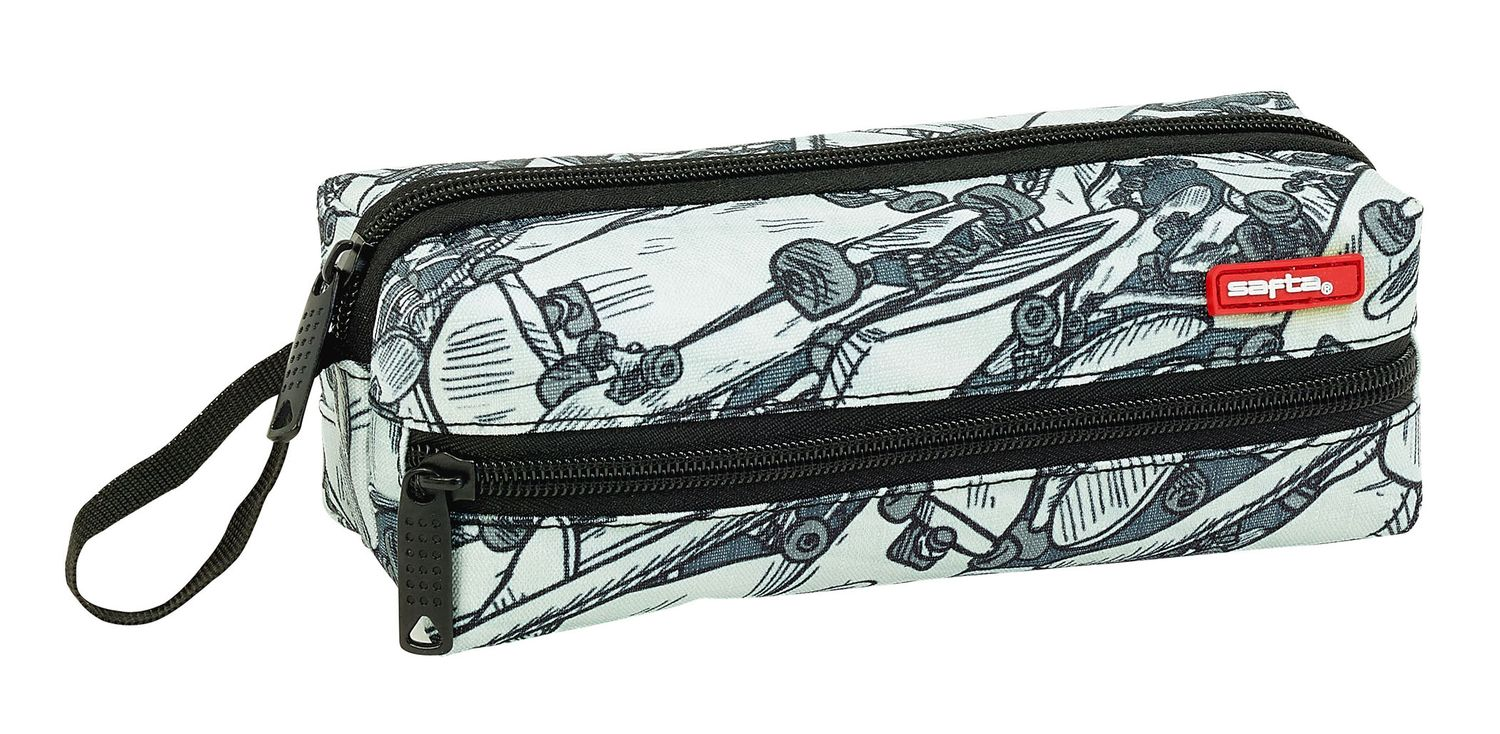 Pencil Case With 3 Zippers Safta Skateboard – image 1