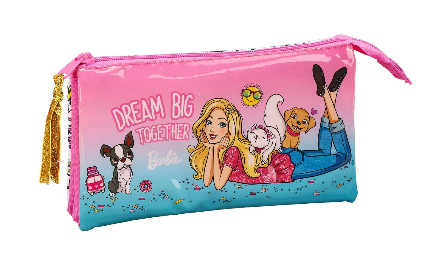 Triple Pencil Case Barbie Celebration – image 1