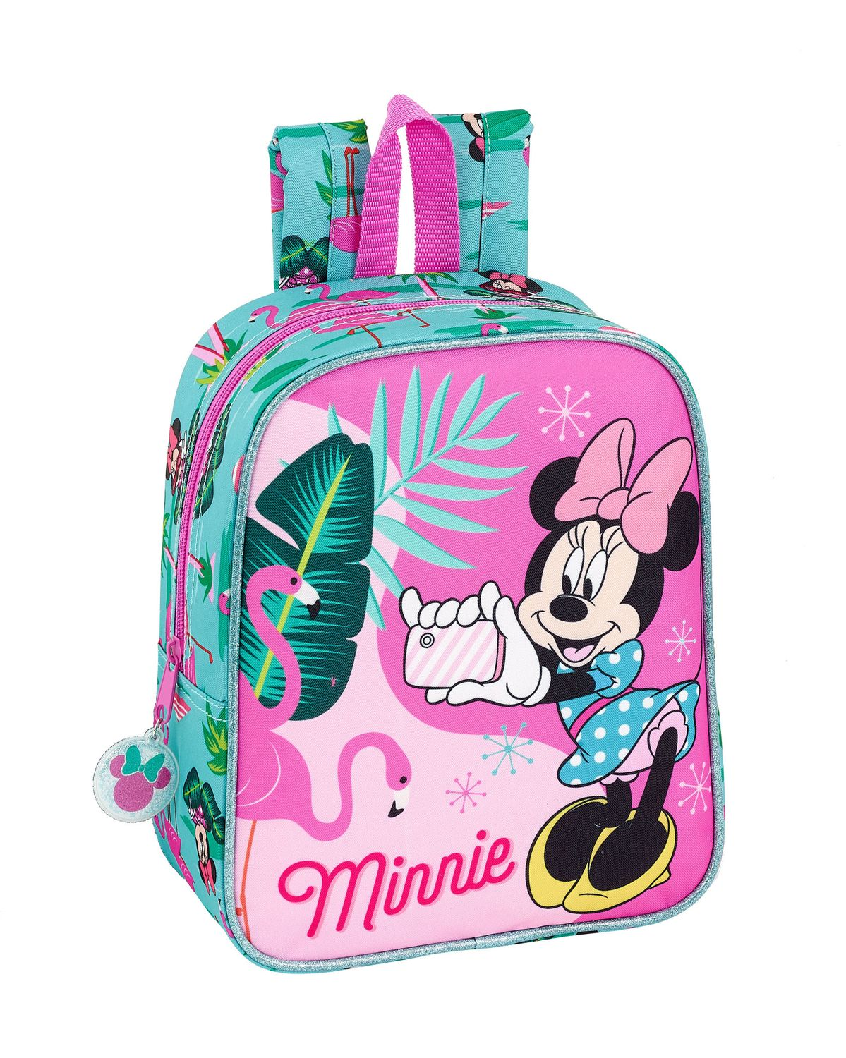 Disney Minnie Mouse Spring Palms Flamingo Junior Rucksack Backpack 27 cm  – image 1