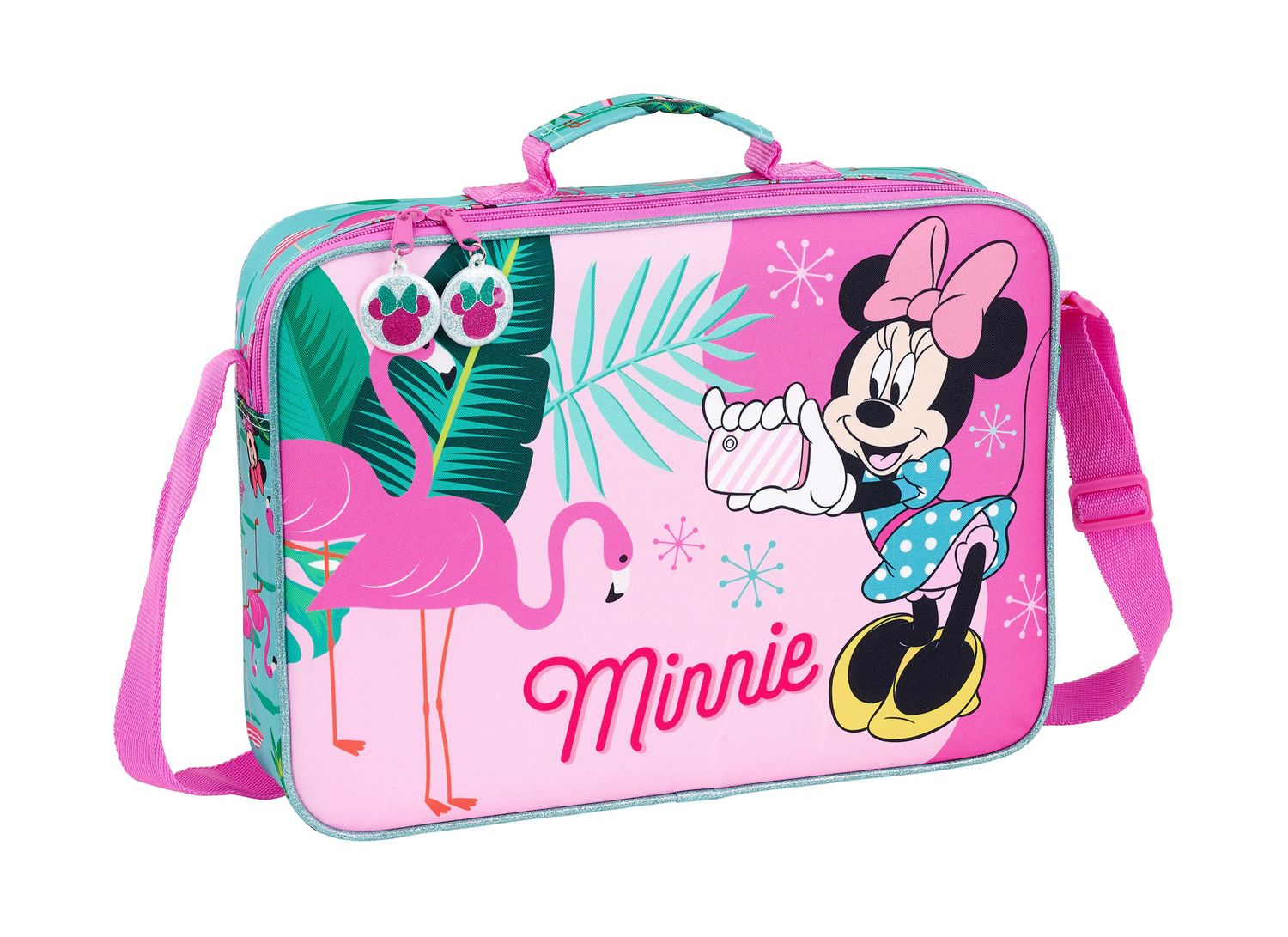 Minnie Mouse Spring Palms Briefcase Shoulder Bag 38cm – image 1
