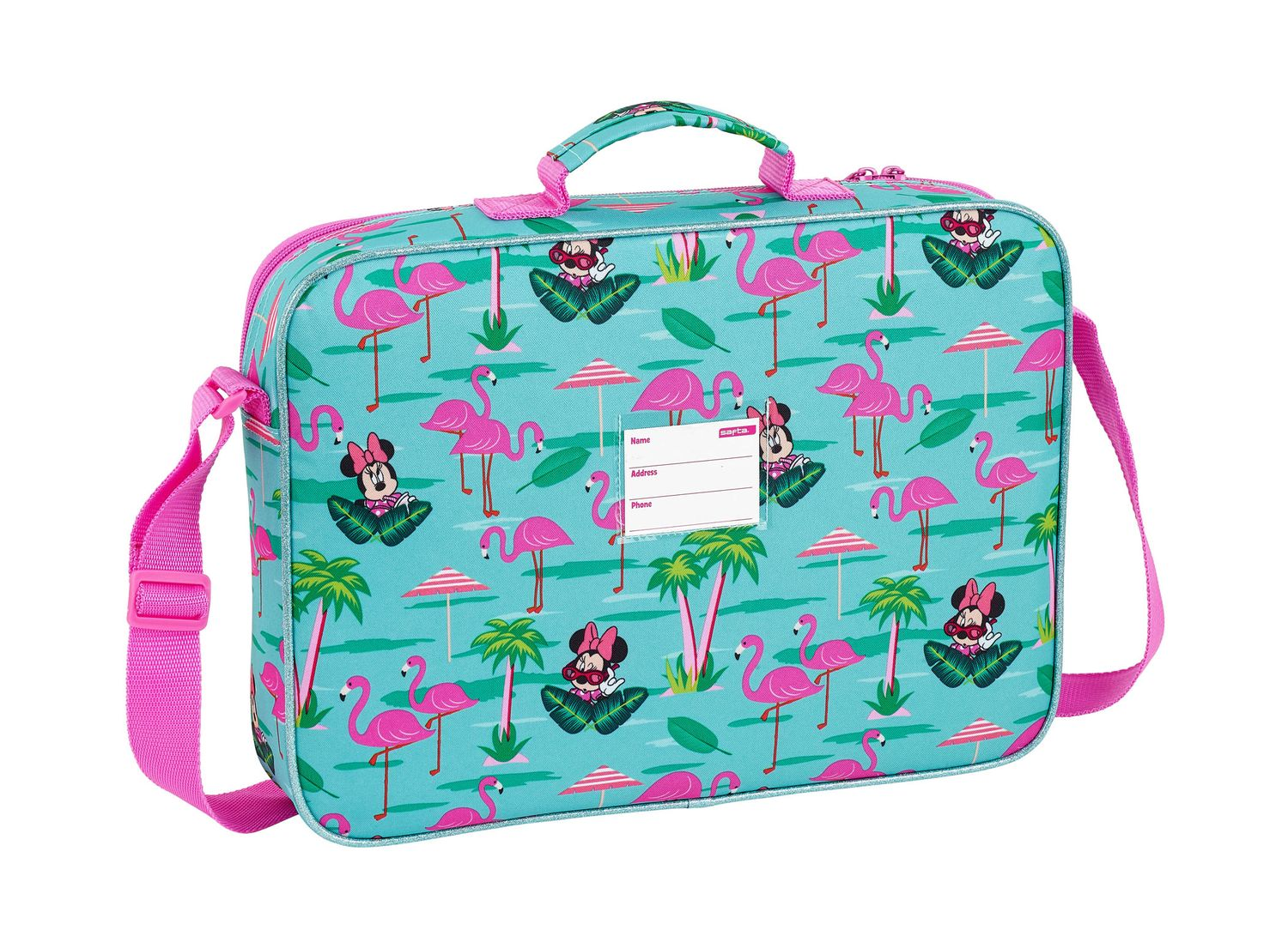 Minnie Mouse Spring Palms Briefcase Shoulder Bag 38cm – image 2