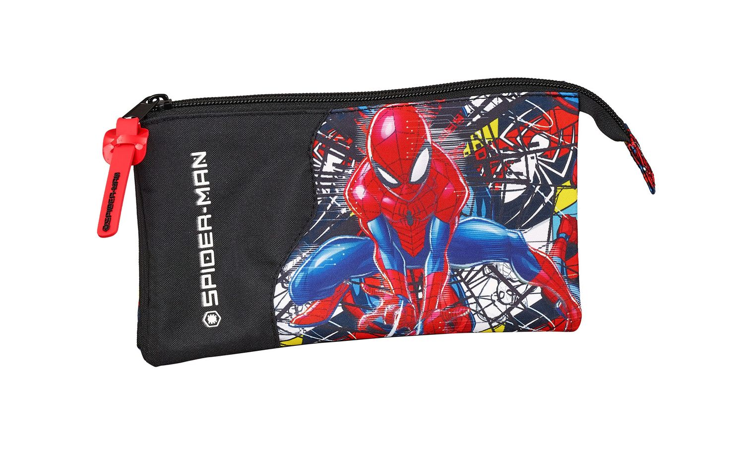 Triple Pencil Case Spiderman SUPER HERO – image 1