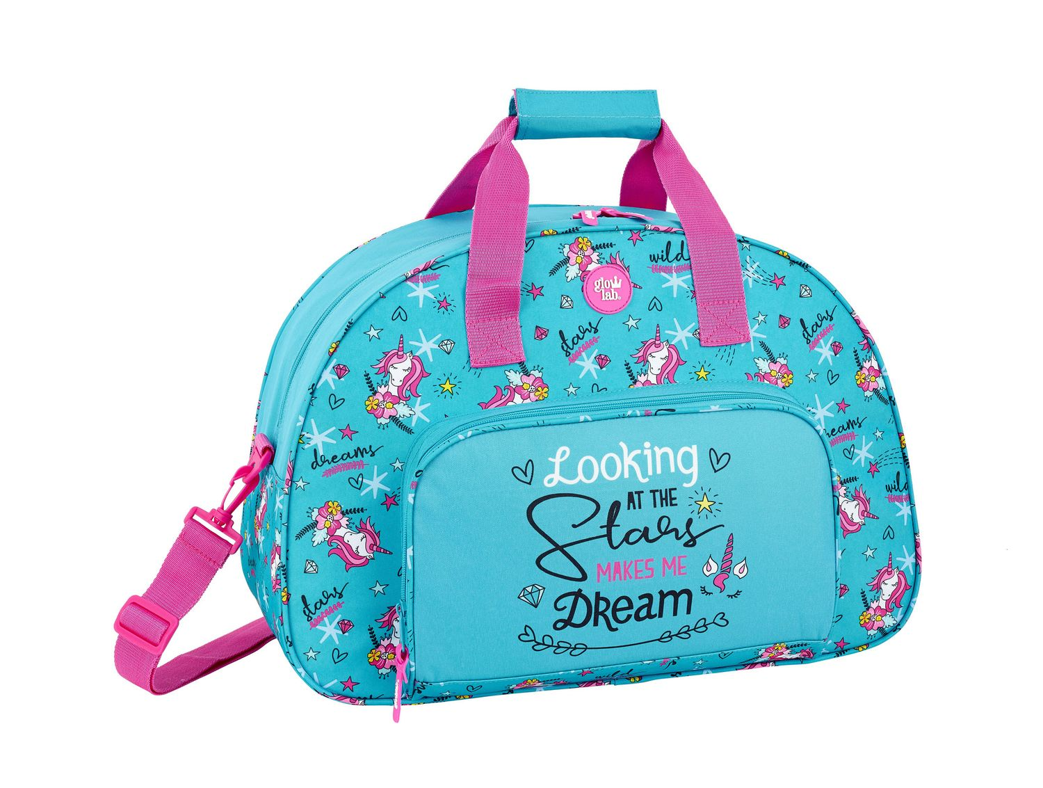 Travel Sports Bag 48 cm Glowlab DREAMS Unicorn – image 1