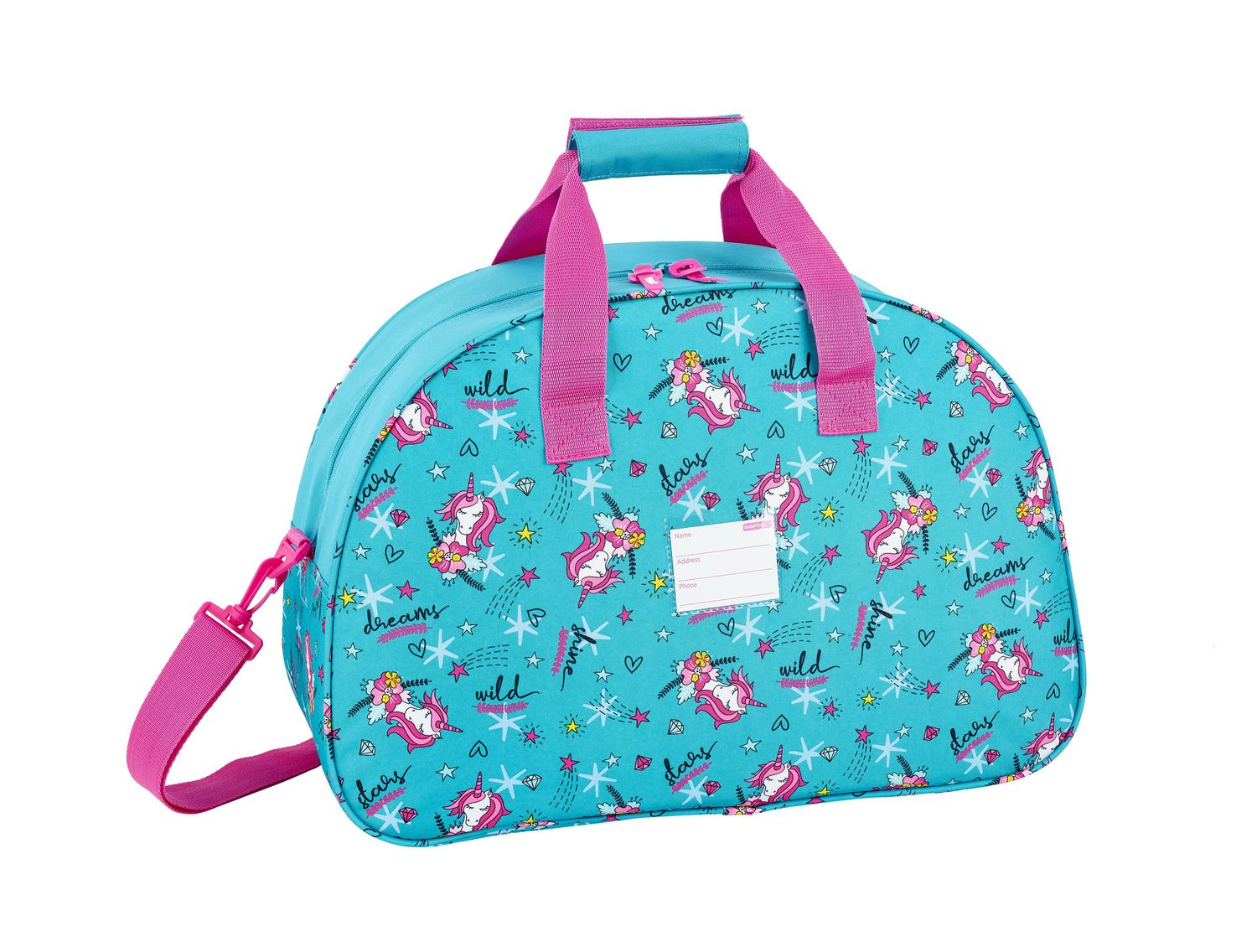 Travel Sports Bag 48 cm Glowlab DREAMS Unicorn – image 2