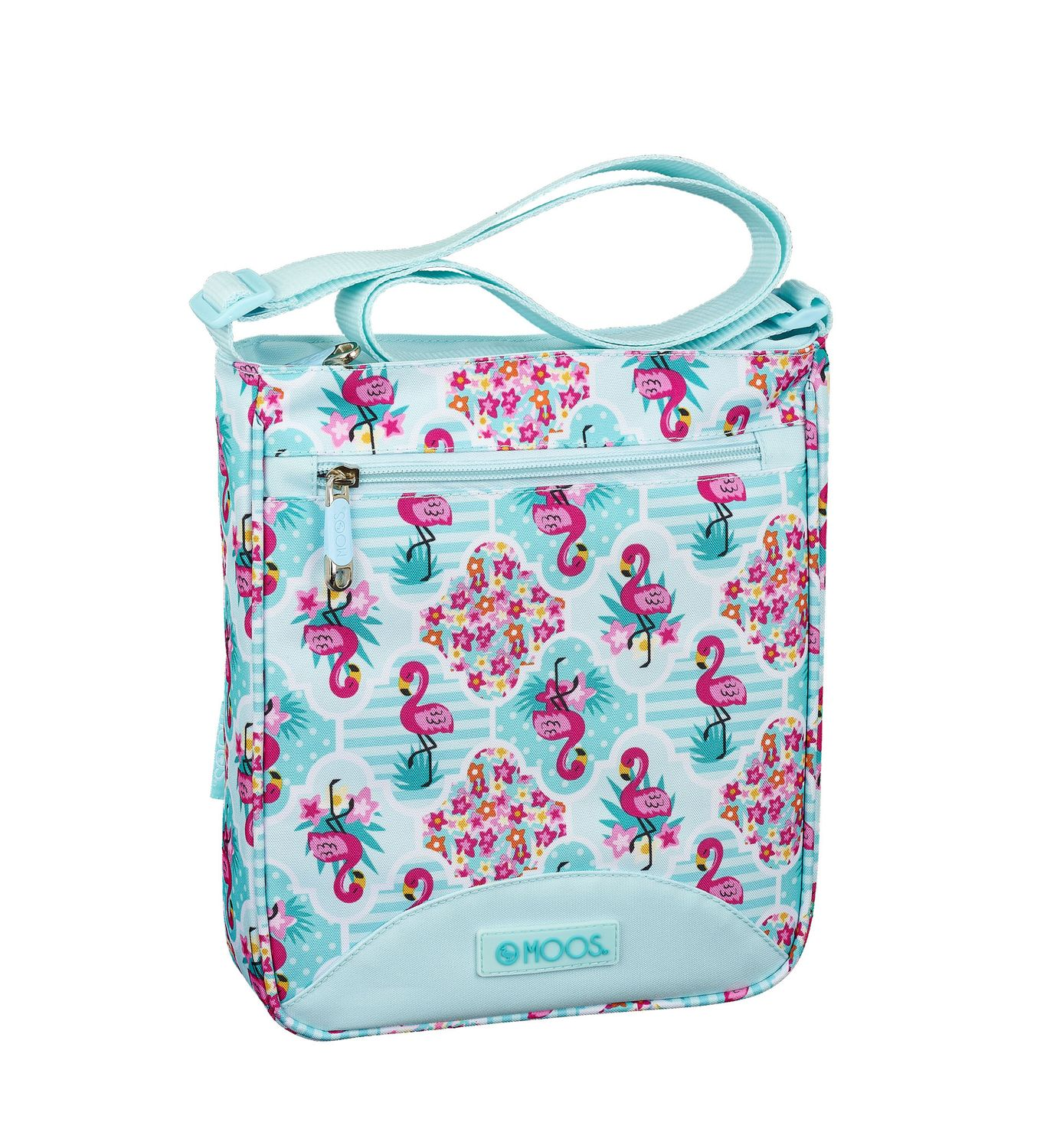 Shoulder Bag 21 cm MOOS Turquoise Flamingo  – image 1