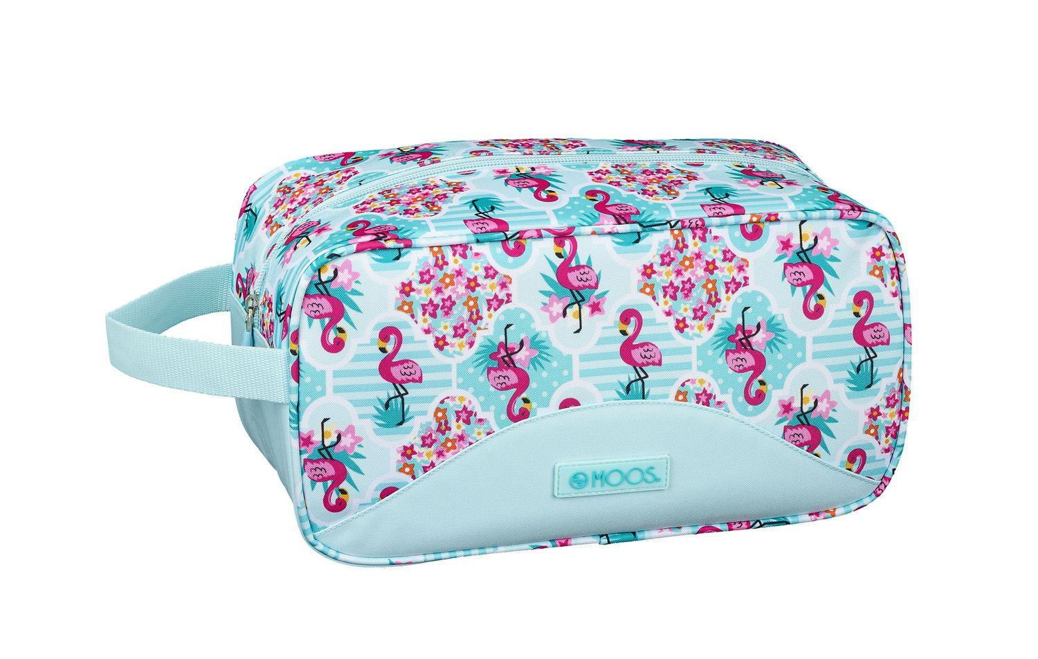 Wash Travel Bag 29 cm MOOS Turquoise Flamingo  – image 1