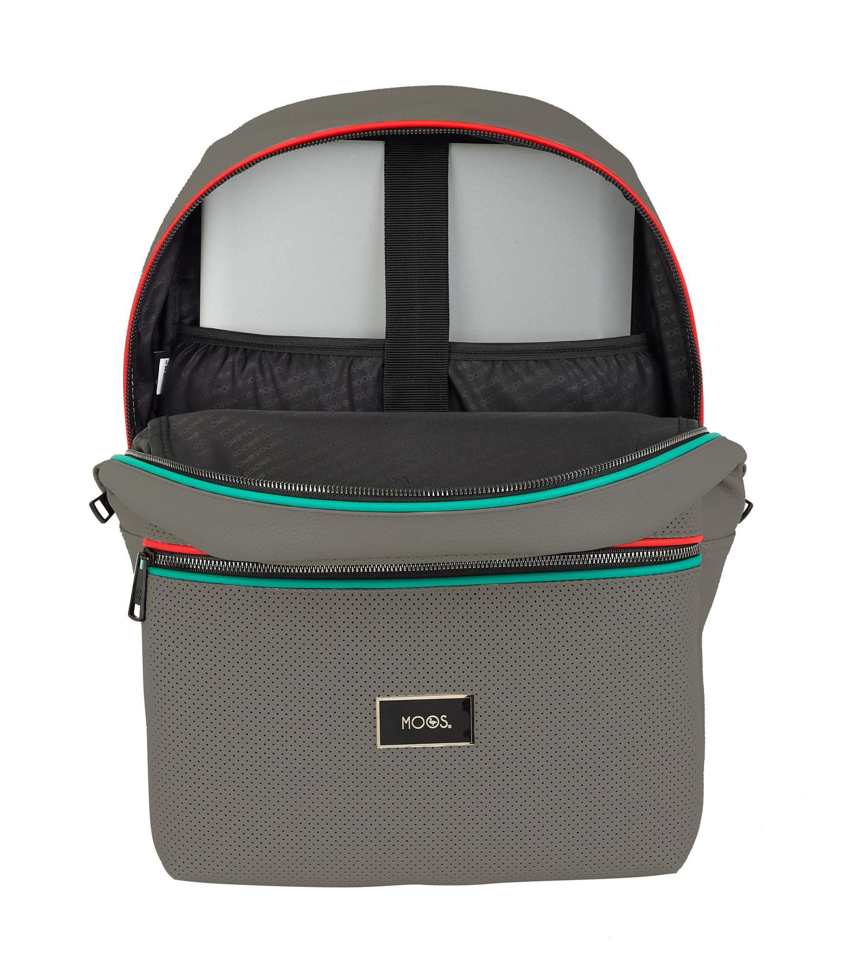 8251c50cf5e54f Laptop Rucksack Backpack 15,6'' MOOS Capsula Portland Grey ...