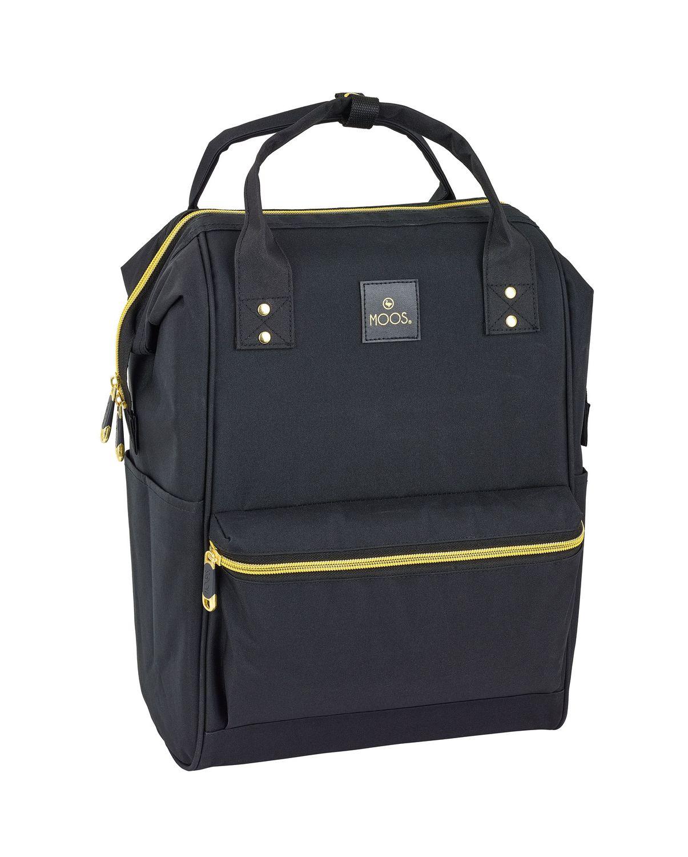 Laptop Backpack DELUXE 40 cm MOOS Black – image 1