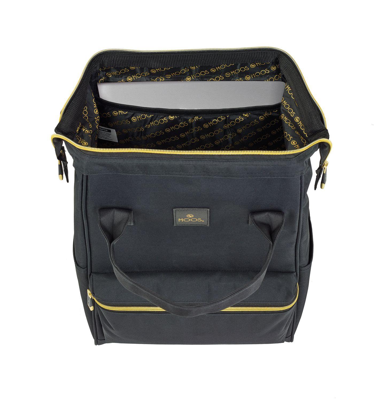 Laptop Backpack DELUXE 40 cm MOOS Black – image 2