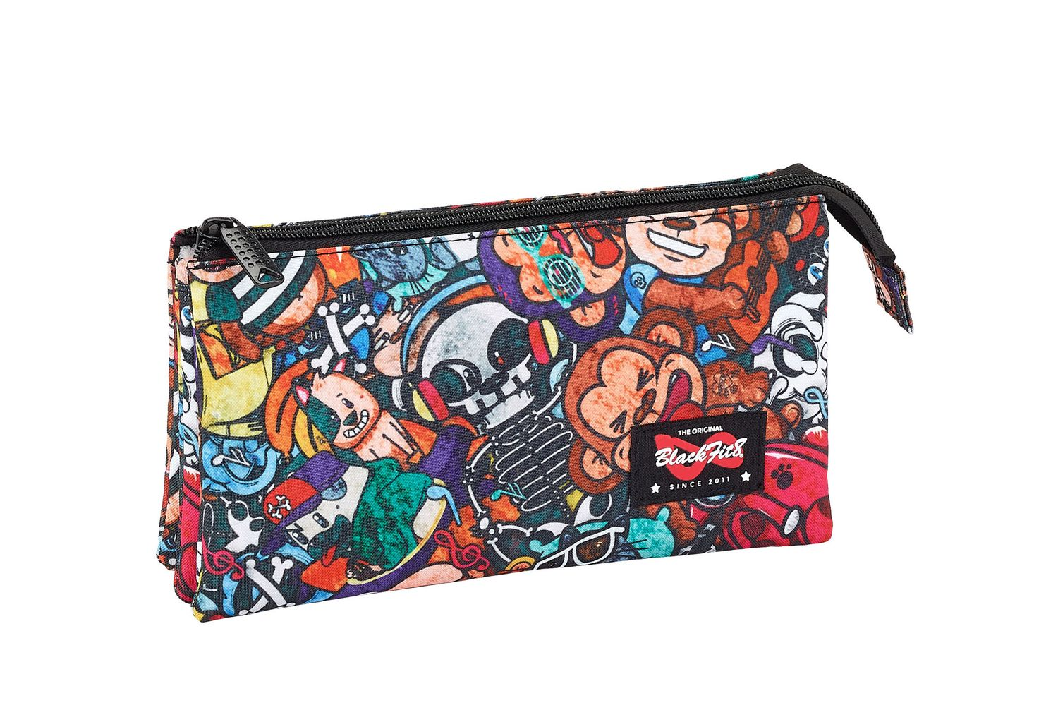 Triple Pencil Case Blackfit8 Monkey – image 1