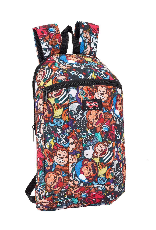 Backpack Rucksack Slim Fit Blackfit8 Monkey 39 cm – image 1