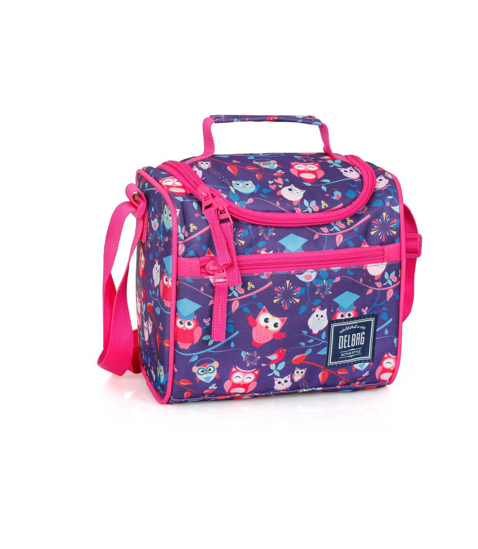 Cooler Lunch Bag PINK OWLS – image 1