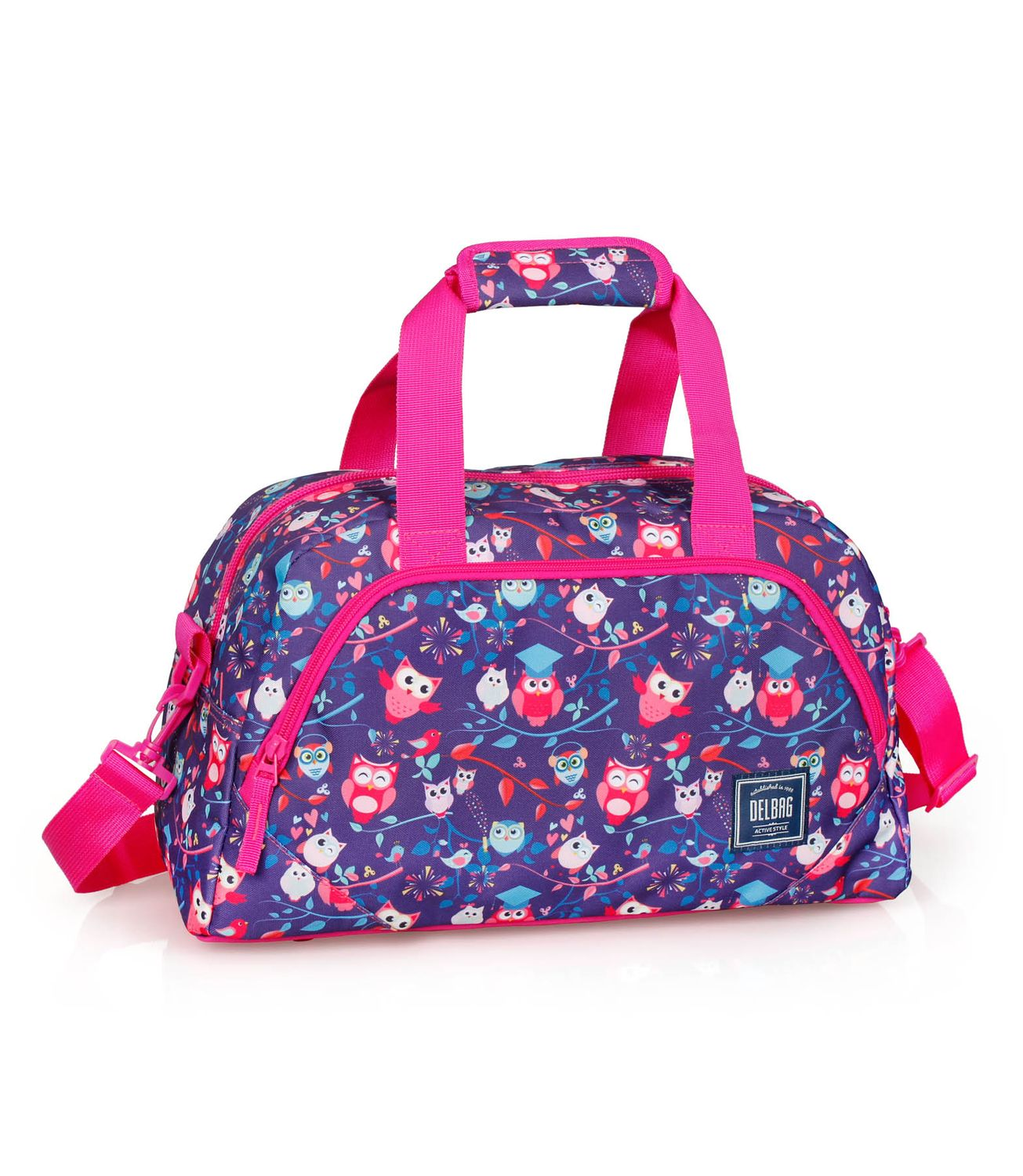 Holdall Travel Bag PINK OWLS – image 1