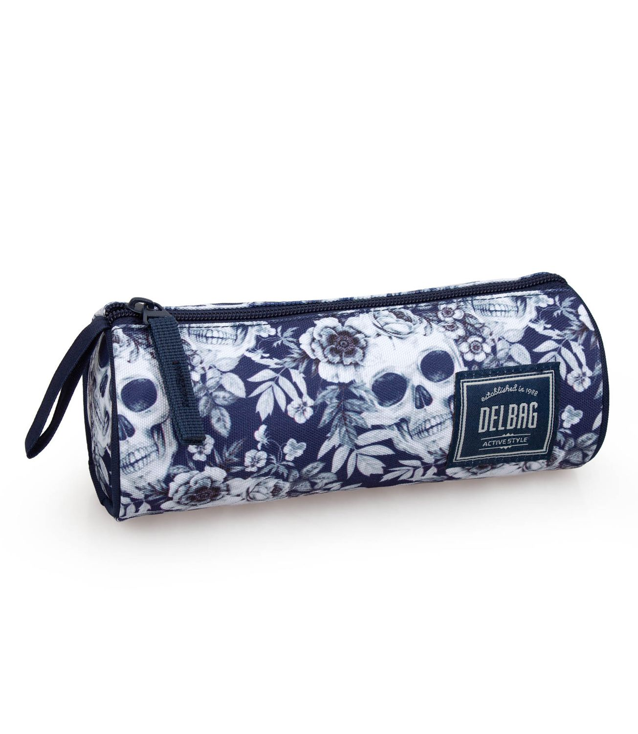 Pencil Case Tube Floral SKULLS – image 1