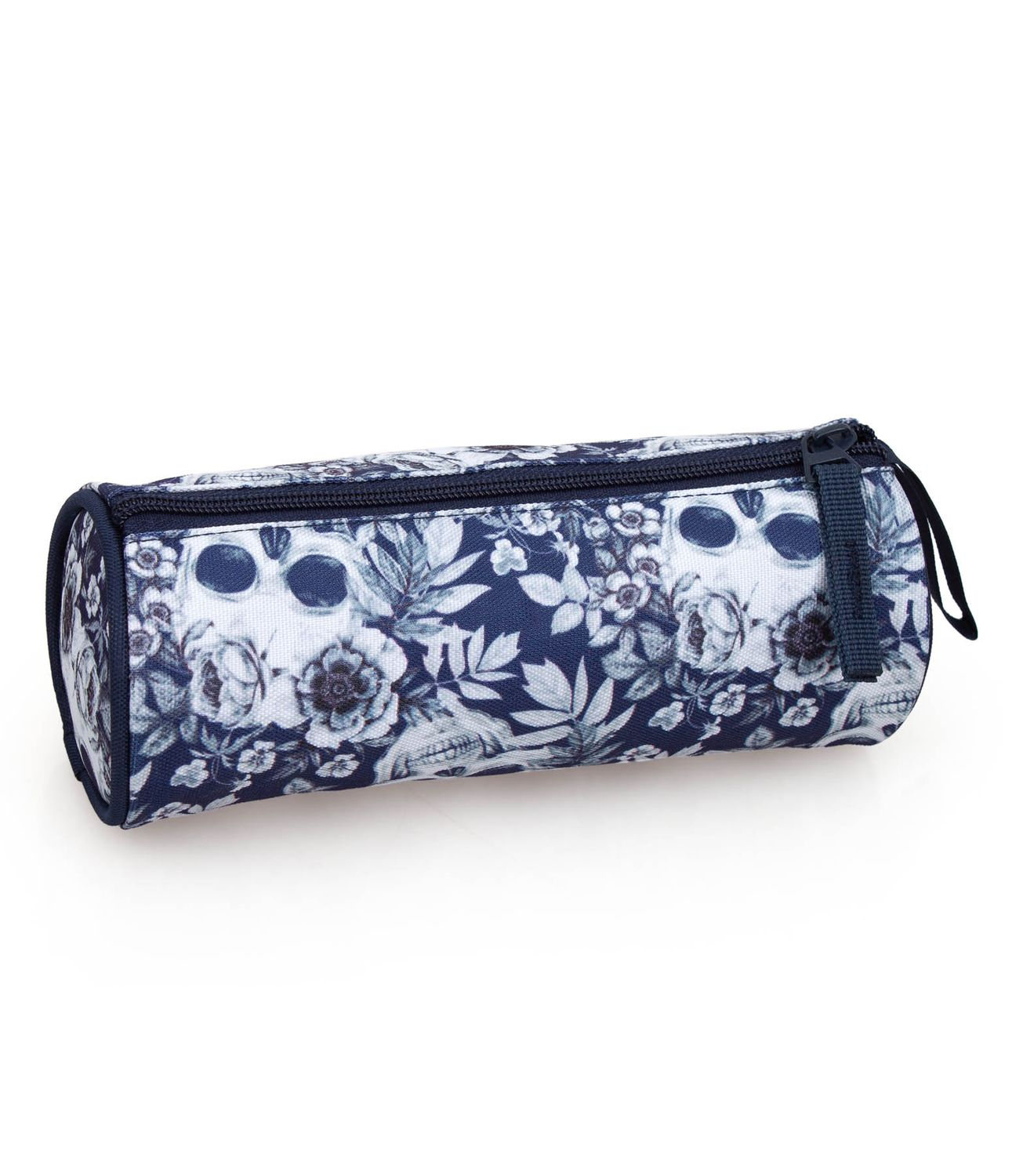 Pencil Case Tube Floral SKULLS – image 2
