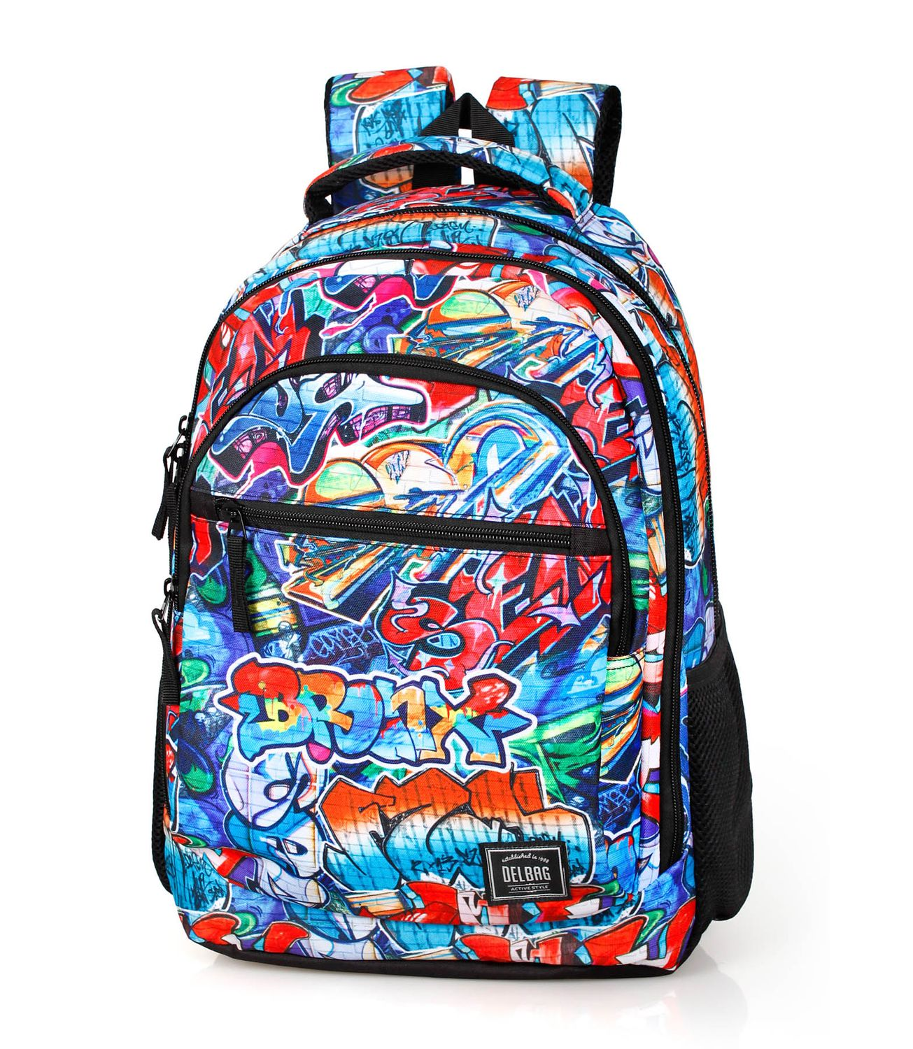 Triple Backpack Rucksack GRAFFITI BRONX – image 1