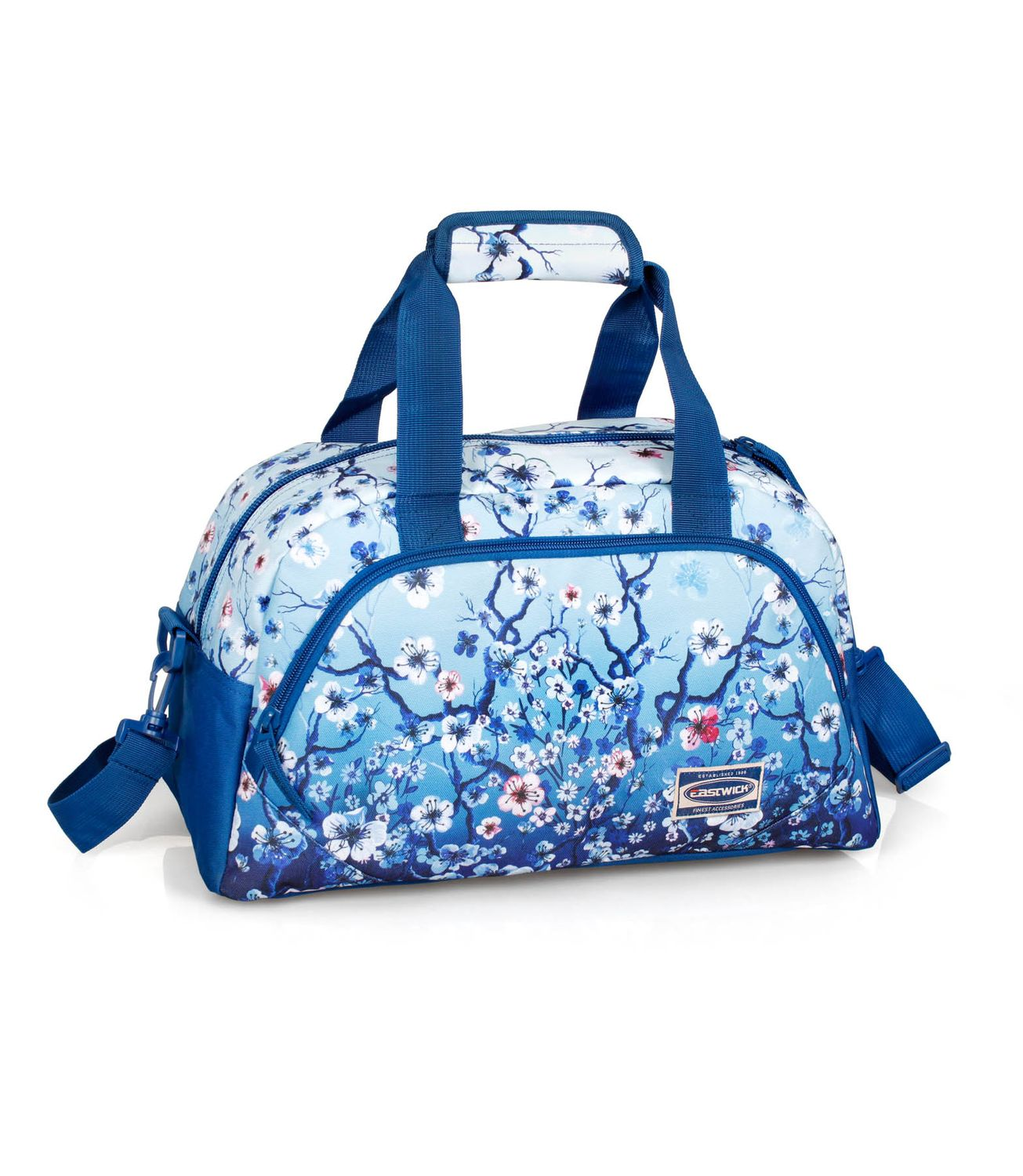 Holdall Travel Bag FLORAL Blue – image 1