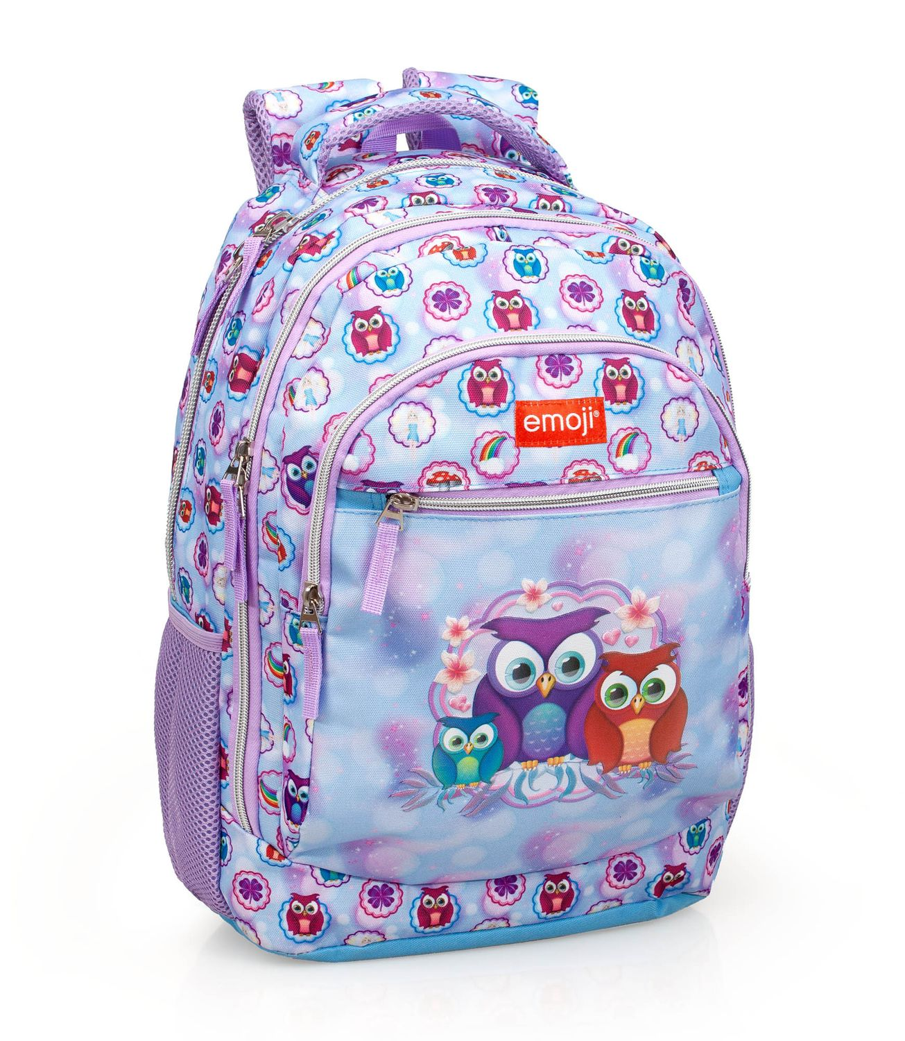 Triple Backpack Rucksack EMOJI Official PINK OWLS – image 1