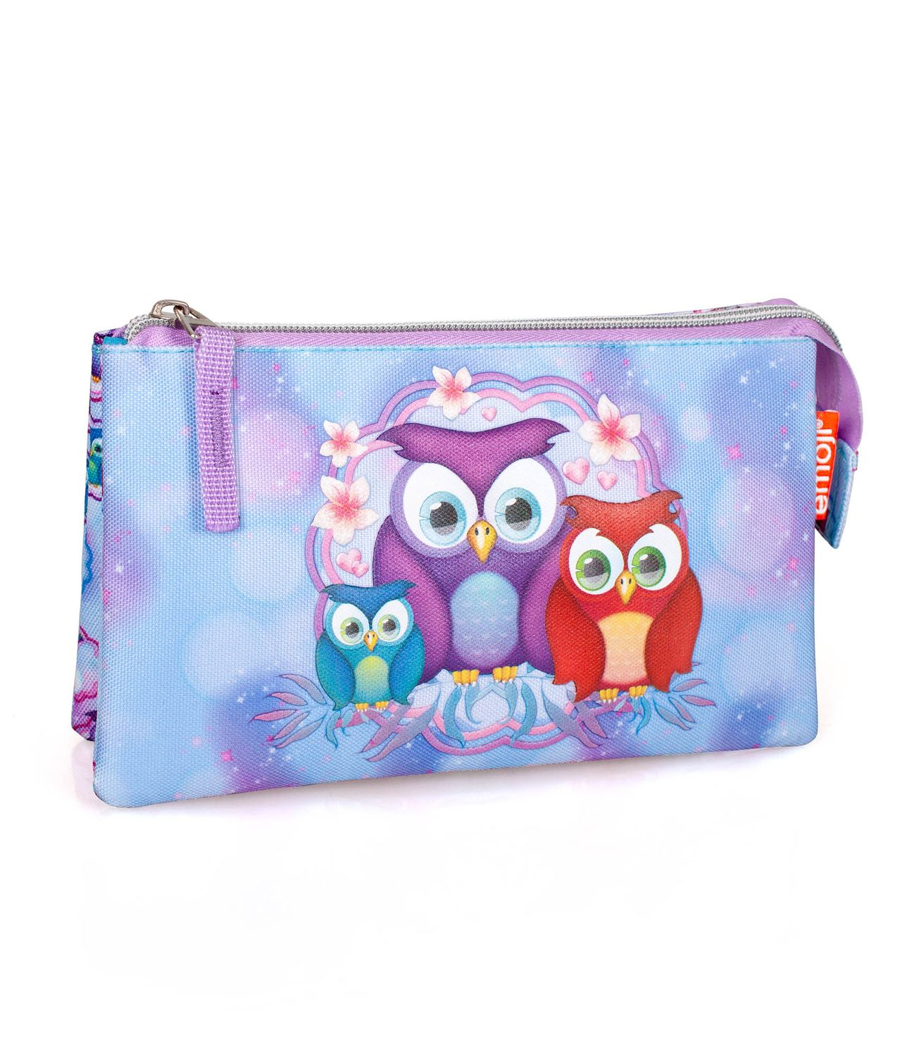 Triple Compartment Pencil Case EMOJI Official PINK OWLS – image 1