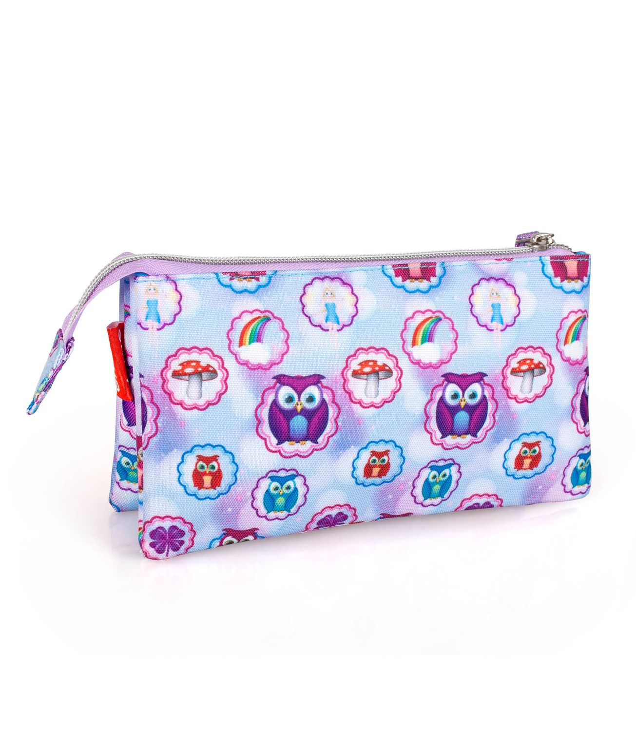 Triple Compartment Pencil Case EMOJI Official PINK OWLS – image 2