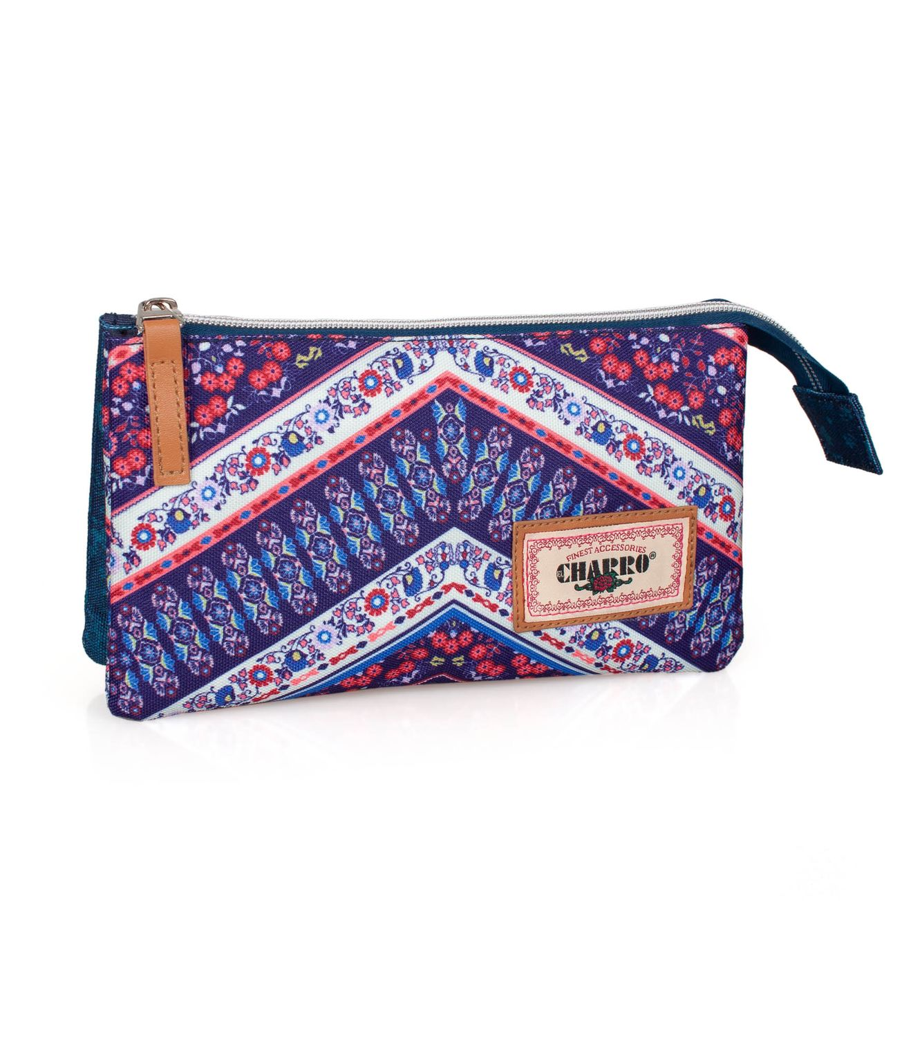 Triple Compartment Pencil Case EL CHARRO ETHNIC DENIM – image 1