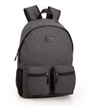 Backpack Rucksack Double Pocket EL CHARRO Grey 001