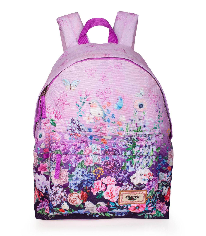 Backpack Rucksack EL CHARRO Pink Floral – image 1