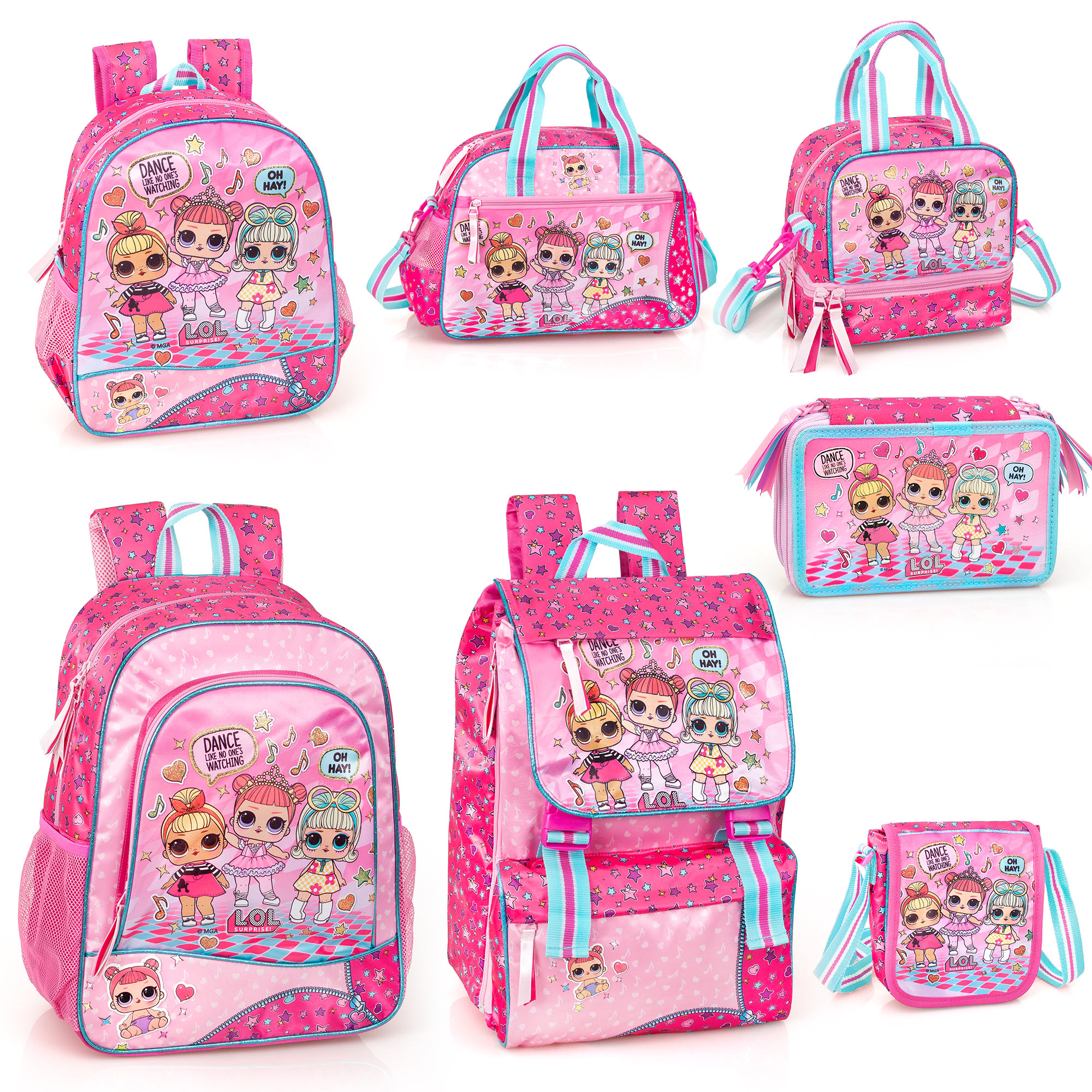 LOL Surprise Oh Hay Girls Backpack Rucksack Travel School Bag Lunch Bag OFFICIAL