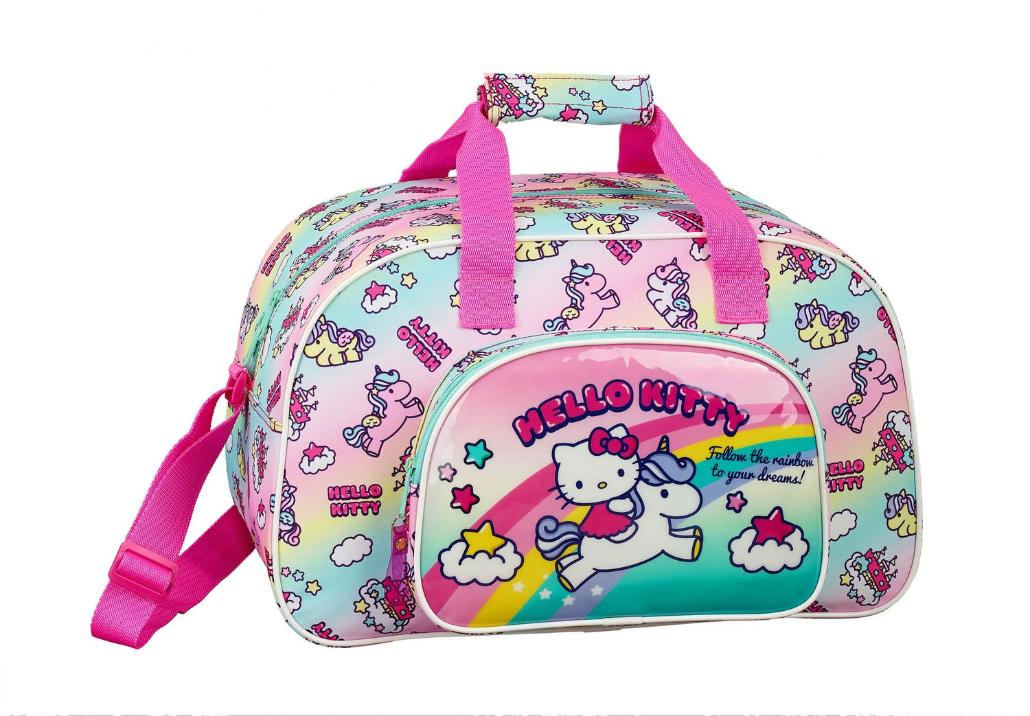 Hello Kitty Candy Unicorn Sports Travel Bag – image 1