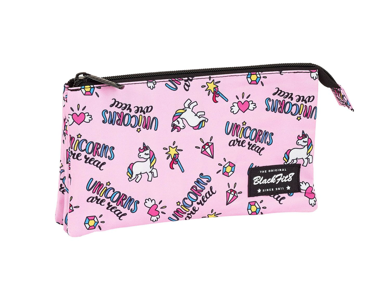 Blackfit8 MAGICAL  Unicornn Triple Pencil Case – image 1