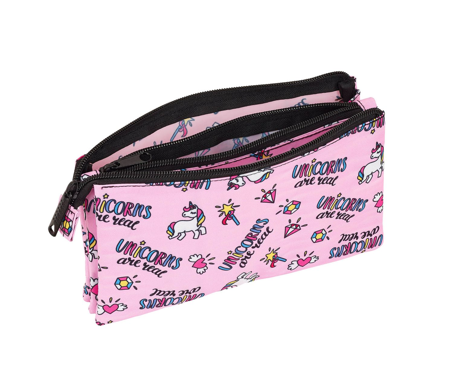 Blackfit8 MAGICAL  Unicornn Triple Pencil Case – image 2