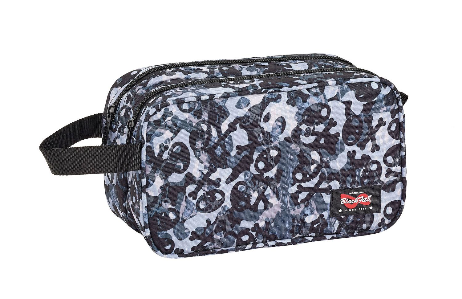 Blackfit8 SKULLS Wash Travel Bag 26cm – image 1
