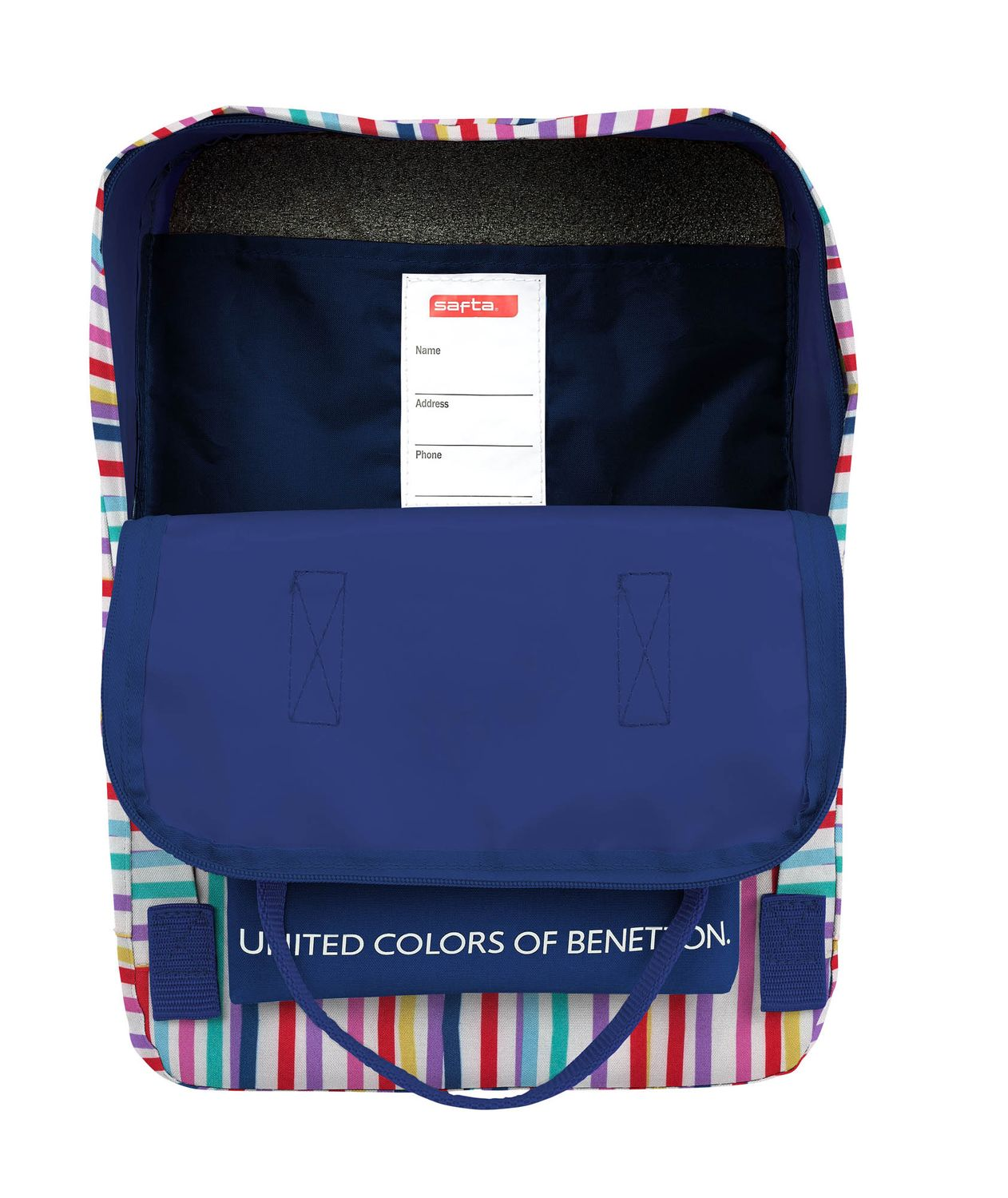BENETTON Backpack with Handles Color Lines – image 3