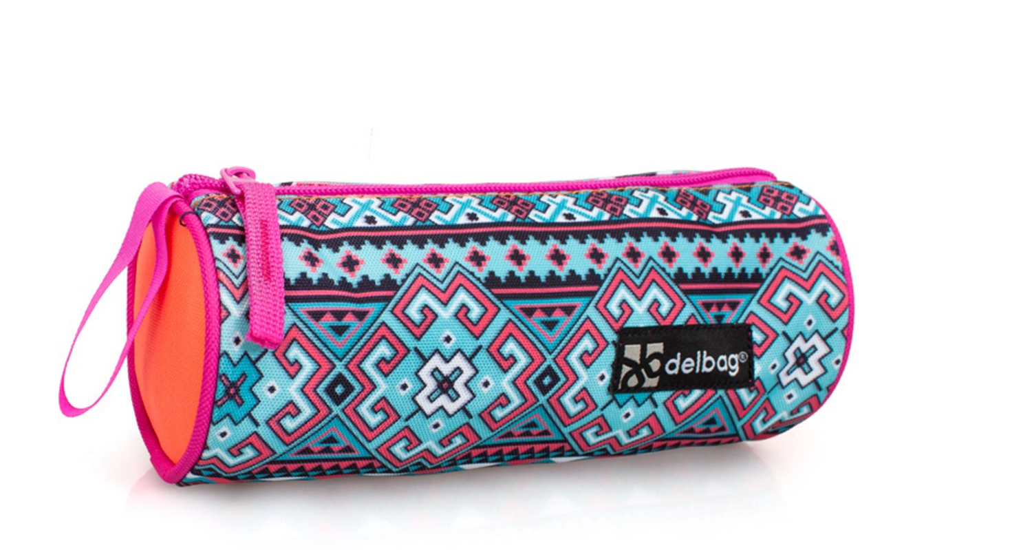 Eastwick ETHNIC Orange Tube Pencil Case