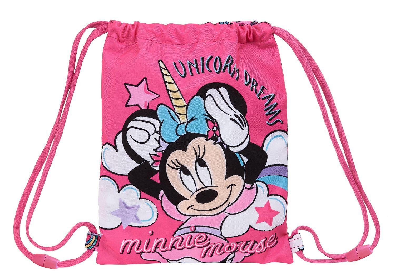 Disney MINNIE MOUSE UNICORNS Drawstring Shoe Bag Rucksack 34cm – image 1