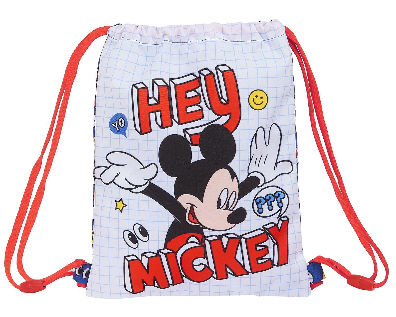 Disney MICKEY MOUSE THINGS Drawstring Shoe Bag Rucksack 34cm – image 1