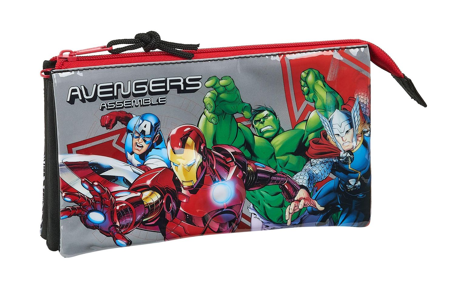 Marvel AVENGERS HEROES Triple Pencil Case – image 1