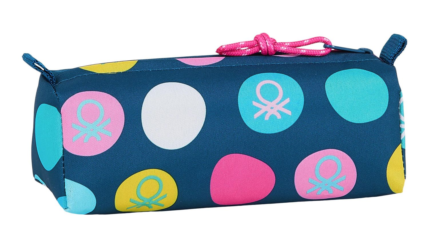 BENETTON NAVY BLUE POLKA DOTS Square Pencil Case – image 2