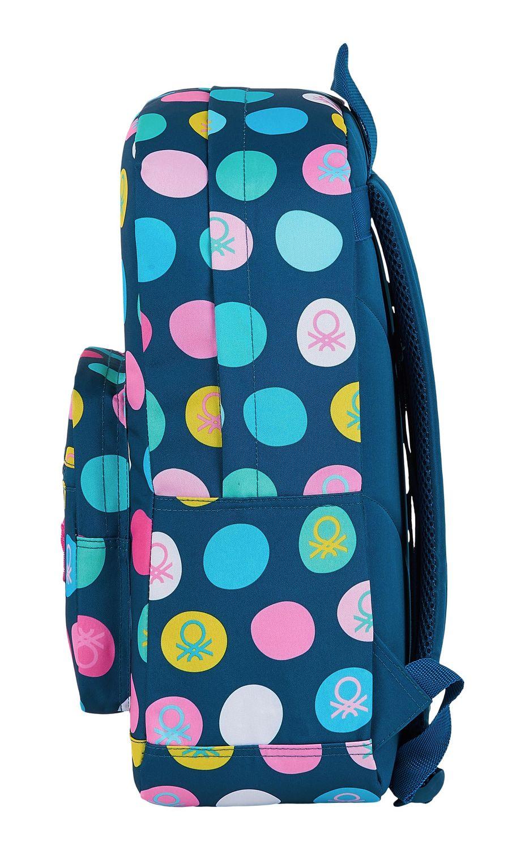 "BENETTON NAVY BLUE POLKA DOTS Laptop Backpack  15,6"" 43 cm – image 3"