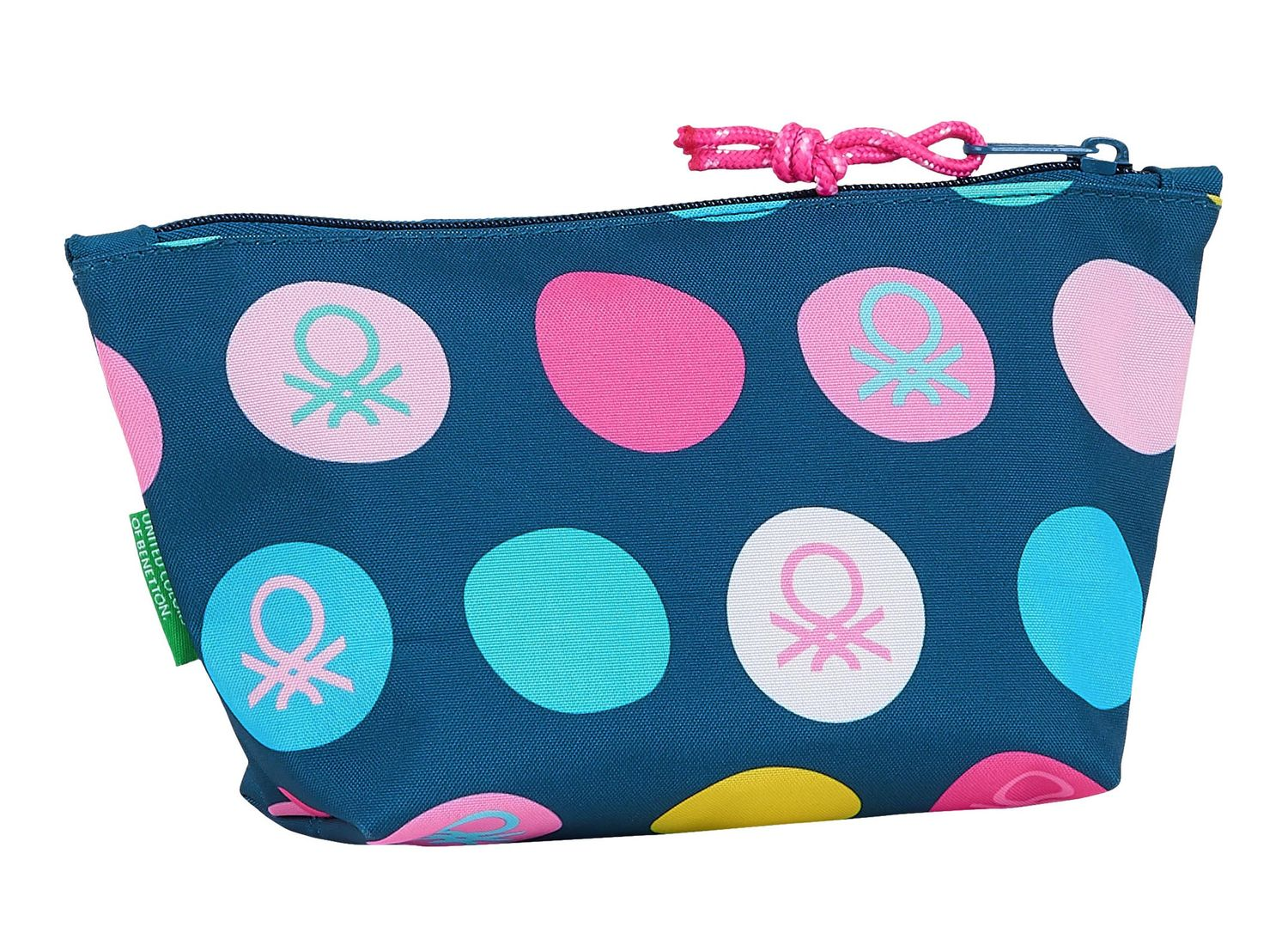 BENETTON NAVY BLUE POLKA DOTS Make Up Toiletry Bag – image 2