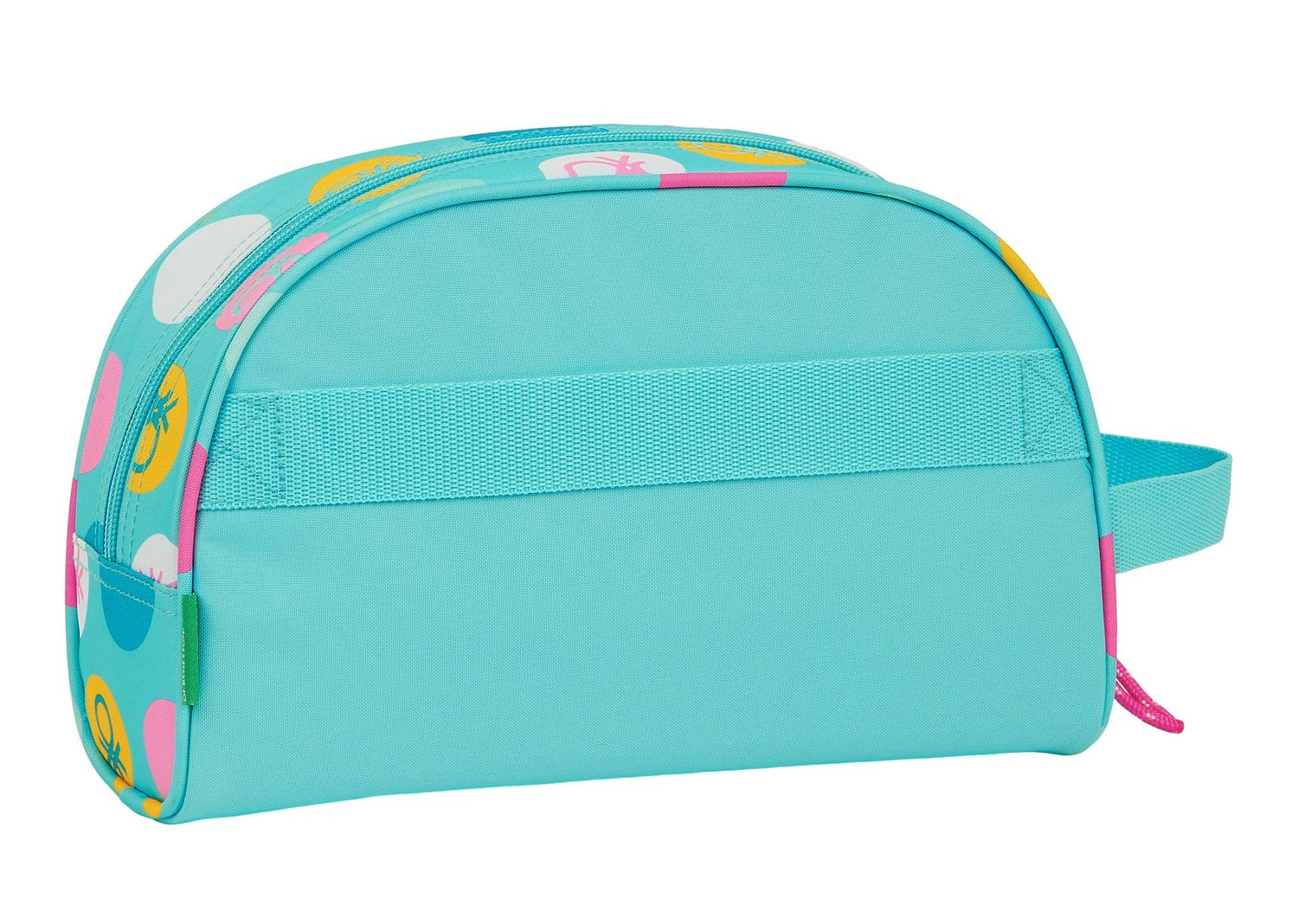 BENETTON Turquoise POLKA DOTS Toiletry Bag Beauty Case – image 3