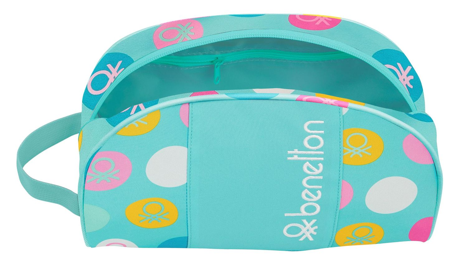 BENETTON Turquoise POLKA DOTS Toiletry Bag Beauty Case – image 2