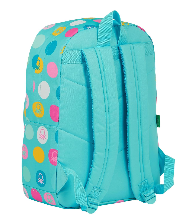 "BENETTON TURQUOISE POLKA DOTS Laptop Backpack  15,6"" 43 cm – image 3"