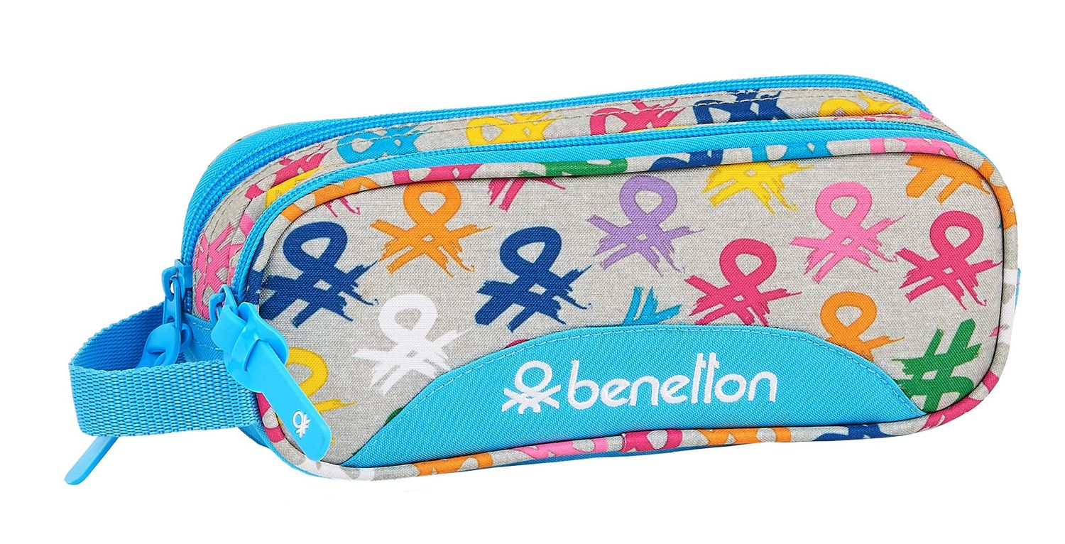 BENETTON LOGO Double Pencil Case 21 cm