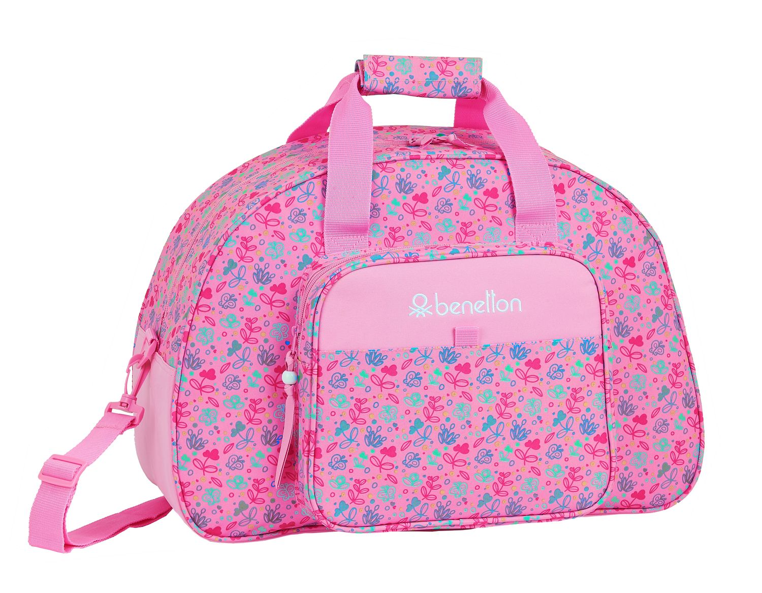 BENETTON Butterflies Pink Travel Holdall Bag 48cm – image 1